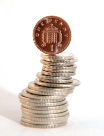 Single one pence piece